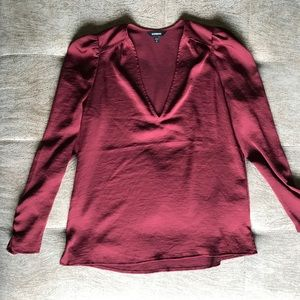 NWOT Express maroon blouse